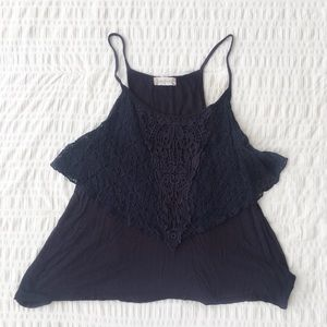 Altar'd State Navy Lace Camisole Tank Top M